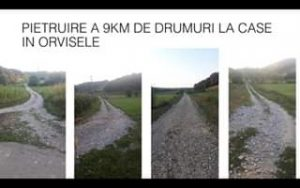 pietruire 9km de drumuri orvisele